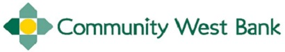 Community West Bank's Logo